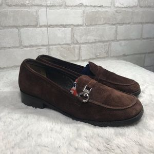 Vintage suade brown loafers